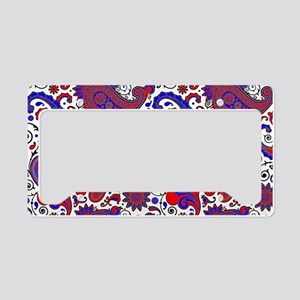 Red, white and blue paisley License Plate Holder