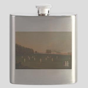 cricket art Flask