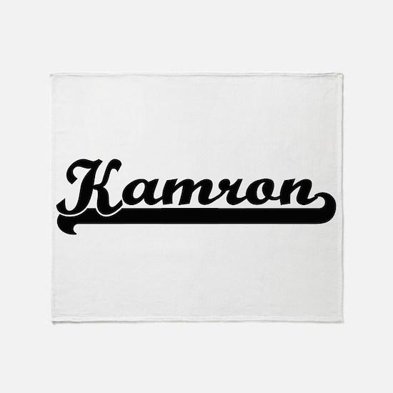 Kamron Classic Retro Name Design Throw Blanket