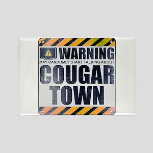 Warning: Cougar Town Rectangle Magnet