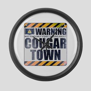 Warning: Cougar Town Large Wall Clock
