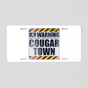 Warning: Cougar Town Aluminum License Plate
