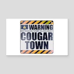 Warning: Cougar Town Rectangle Car Magnet