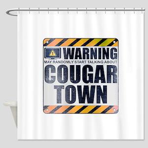 Warning: Cougar Town Shower Curtain