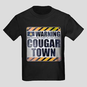 Warning: Cougar Town Kids Dark T-Shirt
