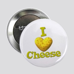 "funny cute i heart love cheese cheesey heart 2.25"""