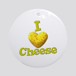 funny cute i heart love cheese cheesey heart Ornam