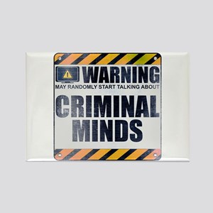 Warning: Criminal Minds Rectangle Magnet