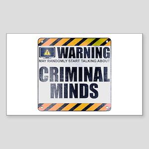 Warning: Criminal Minds Rectangle Sticker