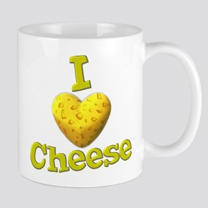 funny cute i heart love cheese cheesey heart Mug