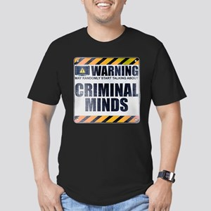 Warning: Criminal Minds Men's Dark Fitted T-Shirt