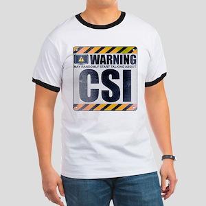 Warning: CSI Ringer T-Shirt