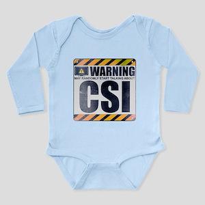 Warning: CSI Long Sleeve Infant Bodysuit