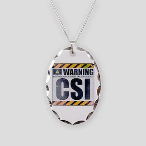 Warning: CSI Necklace Oval Charm
