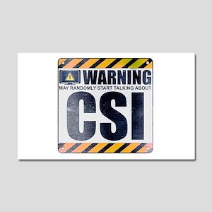 Warning: CSI Car Magnet 20 x 12
