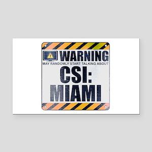 Warning: CSI: Miami Rectangle Car Magnet