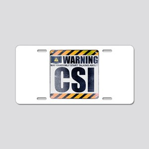 Warning: CSI Aluminum License Plate