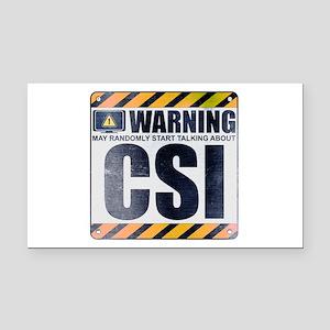 Warning: CSI Rectangle Car Magnet