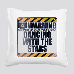 Warning: Dancing With the Stars Square Canvas Pill