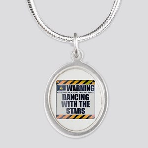 Warning: Dancing With the Stars Silver Oval Neckla