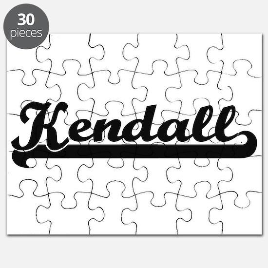 Kendall Classic Retro Name Design Puzzle