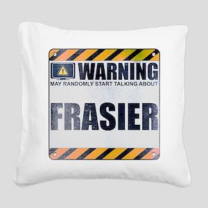 Warning: Frasier Square Canvas Pillow