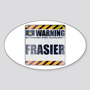 Warning: Frasier Oval Sticker