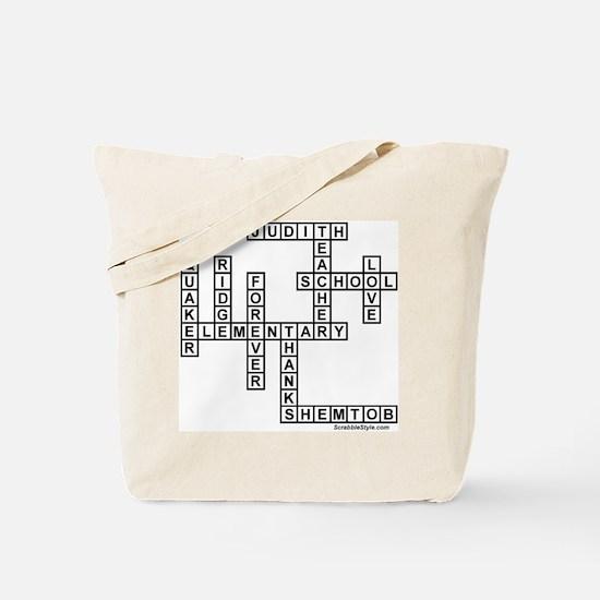 Dana Scrabble-Style Tote Bag