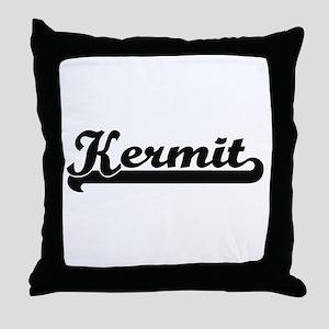 Kermit Classic Retro Name Design Throw Pillow