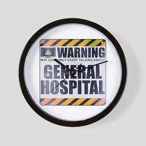 Warning: General Hospital Wall Clock