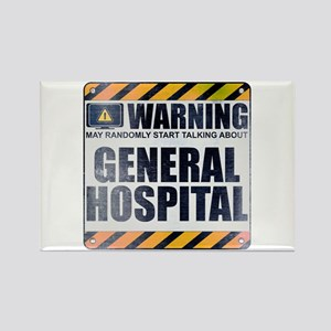 Warning: General Hospital Rectangle Magnet