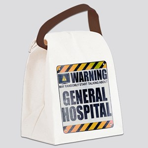 Warning: General Hospital Canvas Lunch Bag