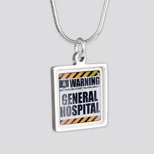 Warning: General Hospital Silver Square Necklace