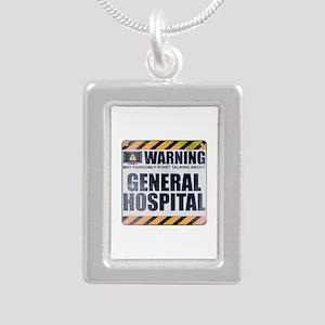 Warning: General Hospital Silver Portrait Necklace
