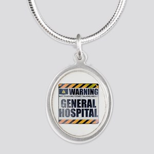 Warning: General Hospital Silver Oval Necklace