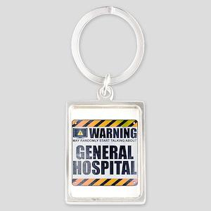 Warning: General Hospital Portrait Keychain