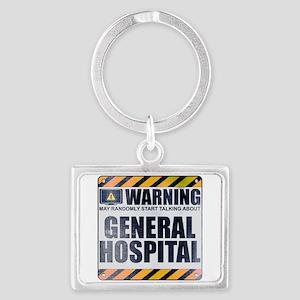 Warning: General Hospital Landscape Keychain
