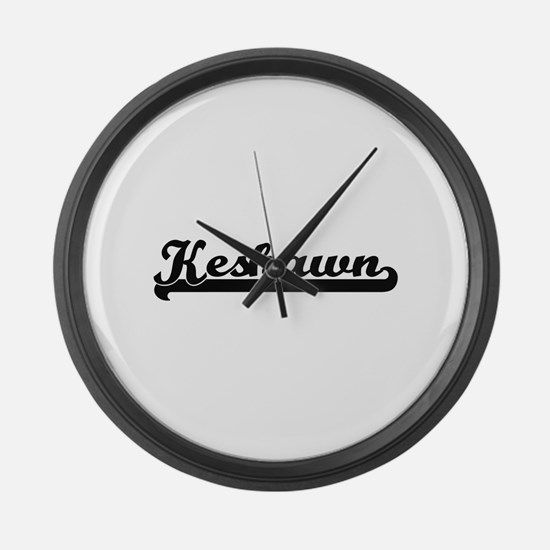 Keshawn Classic Retro Name Design Large Wall Clock