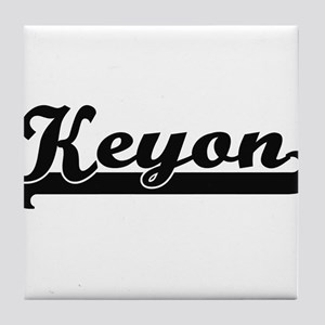 Keyon Classic Retro Name Design Tile Coaster