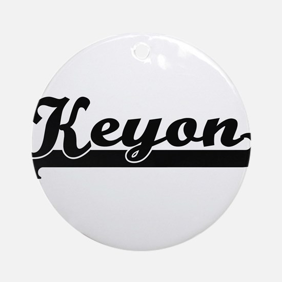 Keyon Classic Retro Name Design Ornament (Round)