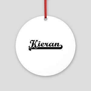 Kieran Classic Retro Name Design Ornament (Round)