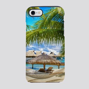 Bungalow And Hammock On Exot iPhone 8/7 Tough Case