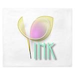 Pink tulip design King Duvet