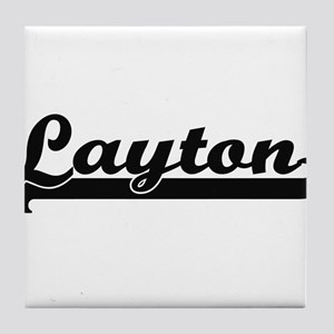 Layton Classic Retro Name Design Tile Coaster