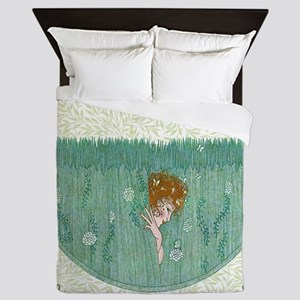 Art Deco Temptress Intrigue Queen Duvet