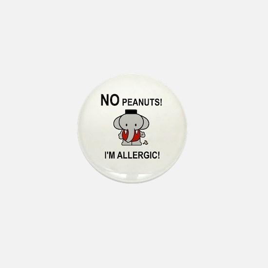 NO PEANUTS I'M ALLERGIC Mini Button (10 pack)