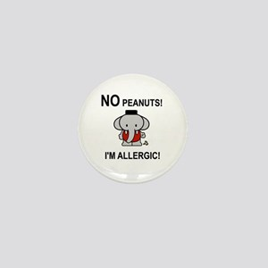 NO PEANUTS I'M ALLERGIC Mini Button