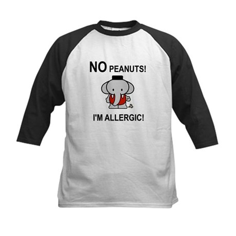 NO PEANUTS I'M ALLERGIC Kids Baseball Jersey