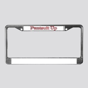 pantsuit up License Plate Frame