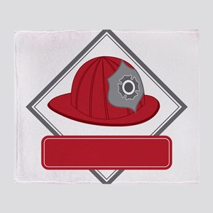 Fire Hat Decal Throw Blanket